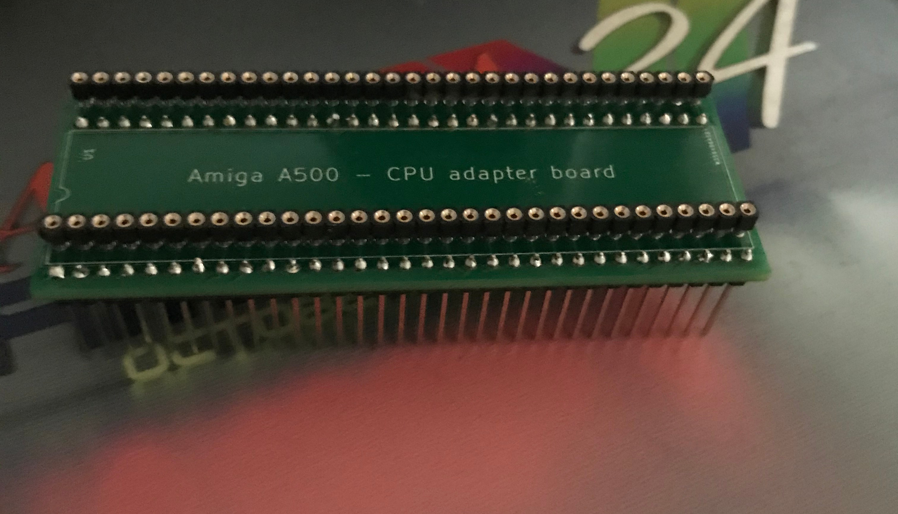 Amiga A500 CPU adapter